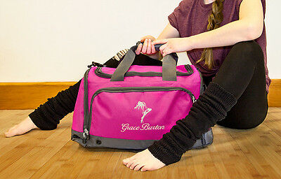 Personalised Embroidered Dance Bag, Holdall, Sport Travel Gym Exercise Dancing
