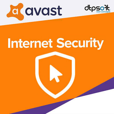 Avast Internet Security 2019 3 PC VOLLVERSION Antivirus mit Firewall 2018 DE EU