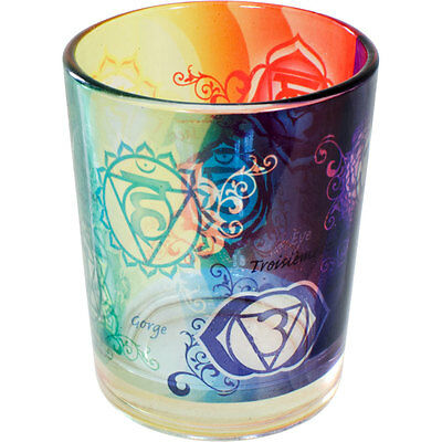 CHAKRAS Printed Votive Candle Holder!