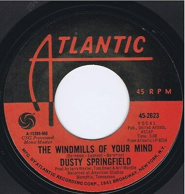 DUSTY SPRINGFIELD The Windmills of your Mind / I Don't... Vinyl 45 Record 1969
