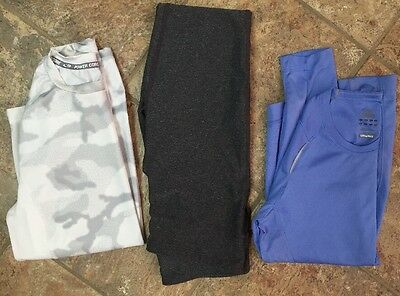 Lot Of 2 Champion Compression pants And Top and 1 Adidas Top For Women Size S