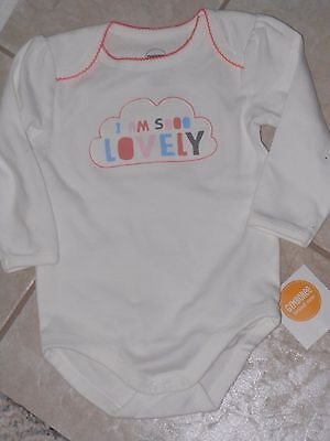 """NWT -Gymboree """"Brand New Baby"""" long sleeved """"So Lovely"""" ivory top - 3-6mos girls"""