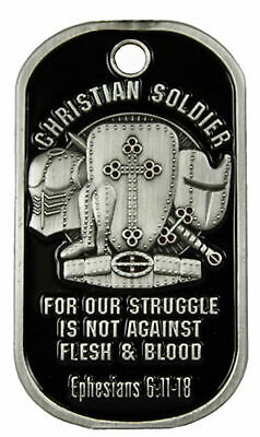 Christian Soldier Dog Tag Inspirational Tag