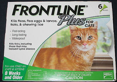 Merial Frontline Plus for Cats  6 month