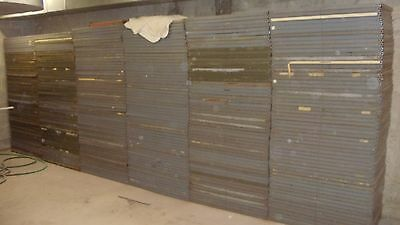 AS IS COMMERCIAL GRADE METAL SHELVING. STEEL SHELVING PARTS. PALATINE IL. PICKUP