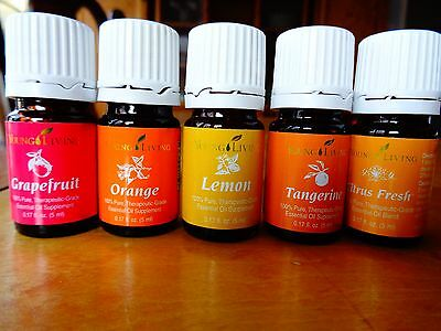 YOUNG LIVING LOT OF 5 Citrus mix oil 5 ml  New Fresh Stock  3-23-15  FREE SHIP