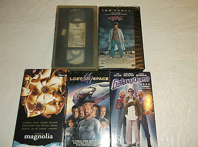Lot of 5 VHS The Burbs/Project X/Magnolia/Lost in Space/Galaxy Quest