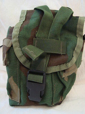 Official US Military Army Woodland MOLLE II Canteen Cover Utility Pouch Poor