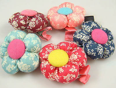 """Wholesale 5p girl baby toddler 5"""" boutique Hair Bow mixed ribbon with clips au4q"""