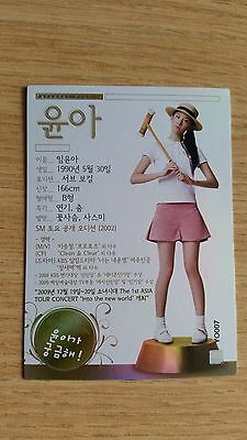 SNSD Girls' Generation Official Season 1 Star Card Holo Rare Yoona YO007