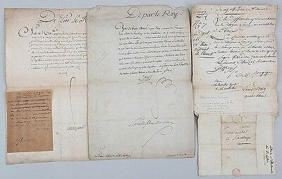 Group of (4) French letters, to include: a letter Lot 123