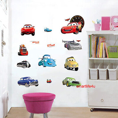 Disney Cars Wall Decor Vinyl Sticker Decal Removable Bedroom Art Kids Boys Mural