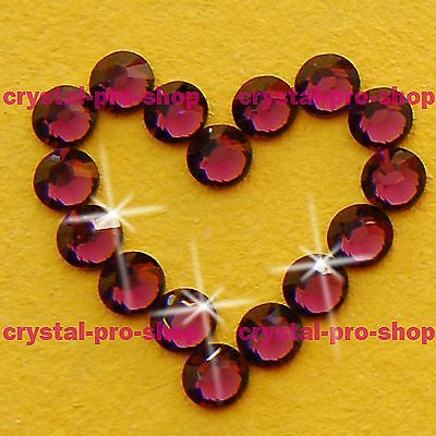 (Any SIZE) Amethyst Iron On Flatback Hot fix Rhinestones Crystal Shine Shine