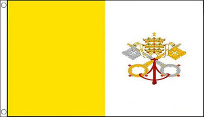 VATICAN CITY FLAG 5' x 3'  Italy Italian Flags
