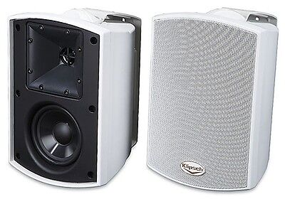Klipsch AW-400 (AW400) All Weather Outdoor Speakers With Wall Brackets. 1 Pair