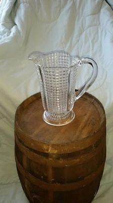 "Antique Glass Pitcher 8 1/2"" Tall"