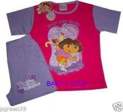 Dora The Explorer Shortie Pyjamas 18-24 Mths Bnwt