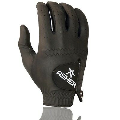 Asher Golf 3 Gloves Chuck Synthetic Simply Awesome Midnight Black Small