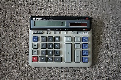 Vintage Sharp Elsi Mate EL-2135 Twin Power Calculator S12 RARE working great!