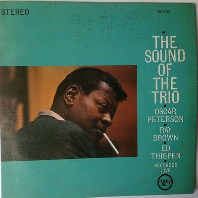 """""""THE SOUND OF THE TRIO"""" OSCAR PETERSON, RAY BROWN, ED THIGPEN. RECORDED LIVE LP"""