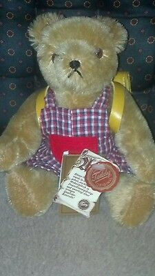 Antique Herman Teddy Bear with Back Pack with Original Tags