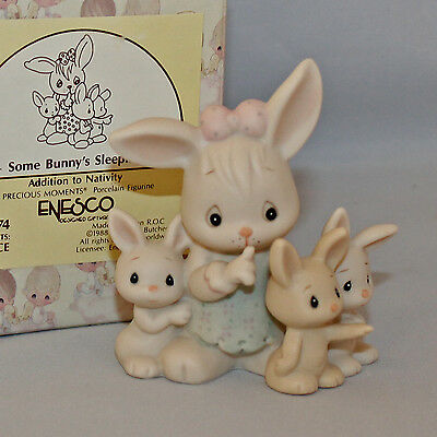 Some Bunny's Sleeping, Precious Moments, 115274 Nativity Addition