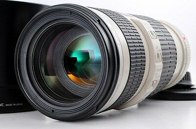 Canon EF 70-200mm F4L IS USM with Hood  TELEPHOTO ZOOM +++EXCELLENT+++From JAPAN