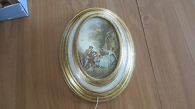 """Vintage W. Germany Reuge Box Wall Art Wooden: """"More"""""""