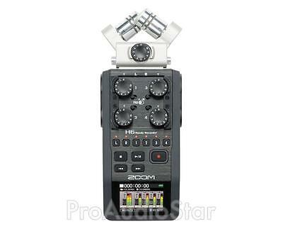Zoom H6 Handy Recorder with Interchangeable Microphone System PROAUDIOSTAR--
