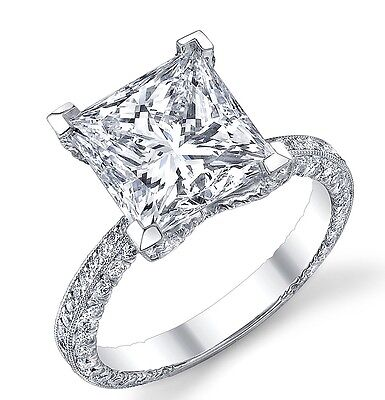 GIA Certified 2.00Ct Flawless Princess Cut Diamond Engagement Ring In Platinum