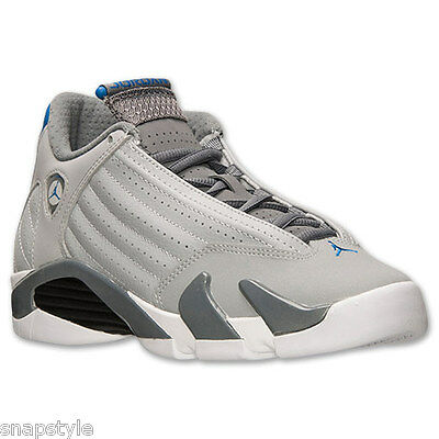 sports shoes e3779 1bc51 NEW KID'S AIR Jordan 14 Retro BG - 487524 004 Wolf Grey 14s Basketball  Sneaker