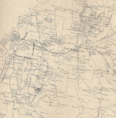 East Hampton CT 1874 Maps with Homeowners Names Shown