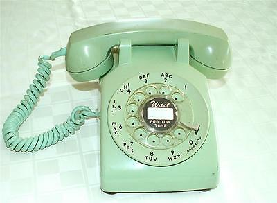 Vintage 1960's Western Electric Bell Light Green Rotary Telephone, C/D 500 NR!!