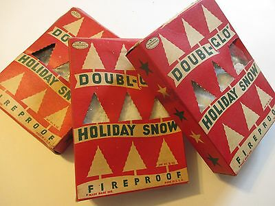 Vintage 3 Boxes Doubl-Glo Holiday Snow Christmas Decoration Novelty Display