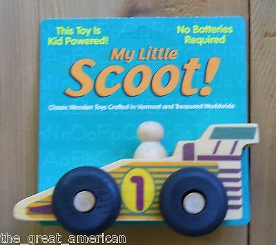 Race Car Wooden Wood Toy Toys Scoot Montgomery Schoolhouse Made in the USA