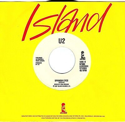 CANADA JUKEBOX COPY 1980s 45 RPM U2 : I STILL HAVEN'T FOUND WHAT I'M LOOKING FOR