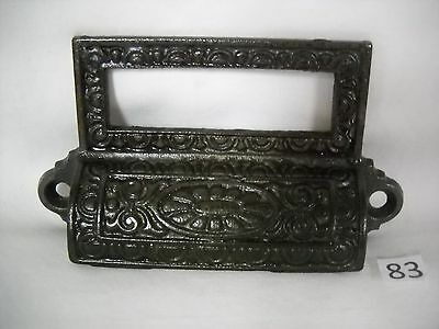 Antique Cast Iron Apothecary Bin Drawer Pull