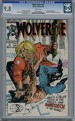 Wolverine 10 CGC 9.8 White Pages Classic Sabertooth Cover Battle Key Issue