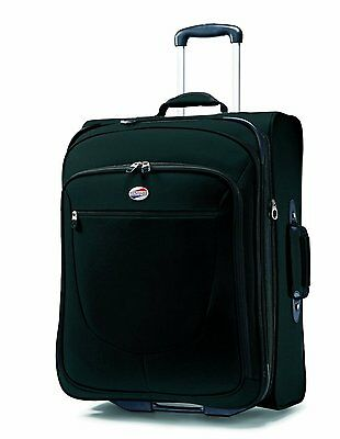 American Tourister Upright Suitcase Luggage w/ In Line Skate Wheels Black 29""