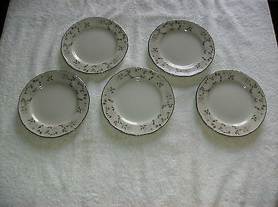 LOT of 5 BREAD & BUTTER PLATES SHEFFIELS FINE CHINA of JAPAN CLASSIC 501 ROSE