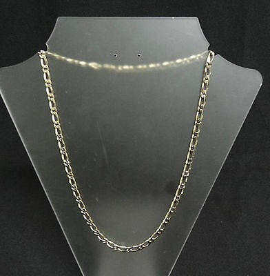 Solid 9Ct Gold Figaro Link Chain - 30.9G - Excellent Condition