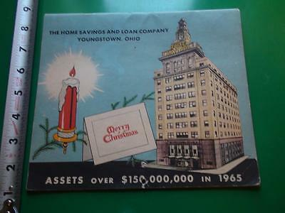 JB575 Vintage 1965 Calendar Ad The Home Savings and Loan Co Youngstown Ohio