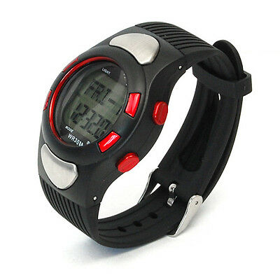 Sport 3D Fitness Wrist Watch Pulse Heart Rate Monitor Pedometer Calories Counter