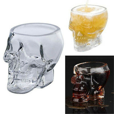 1x New Crystal Skull Head Vodka Whiskey Shot Glass Cup Drinking Ware Home Bar
