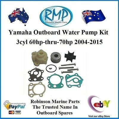 A Brand New Water Pump Kit Suits Yamaha 2004-2015 60hp-thru-70hp R 688-W0078 H