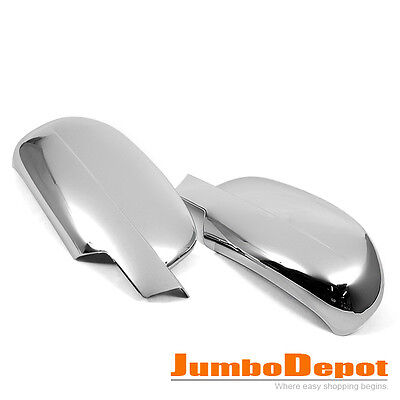 For 09 10 11 12 13 Chevy Avalanche/Silverado/Tahoe Chrome Side Mirror Cover Trim