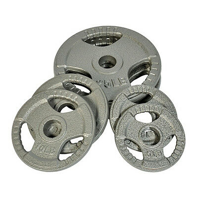 "EVINCO 1.25-20kg Cast Iron Tri-Grip Olympic 2"" Weight Plates Discs Gym Exercise"