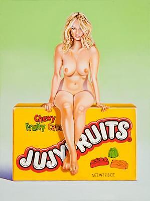 Mel Ramos  - Jujyfruit Judy - 2015, Pop Art Grafik Lithografie, Luxus