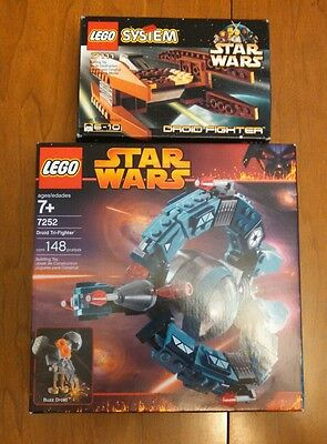 Lego Star Wars Lot  7111 7252 Droid Fighter Droid Tri-Fighter