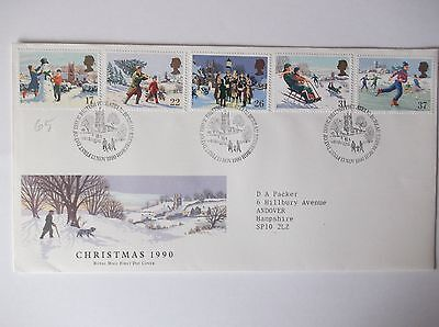 Great Britain  CHRISTMAS 1990 First Day Cover (13 November 1990)